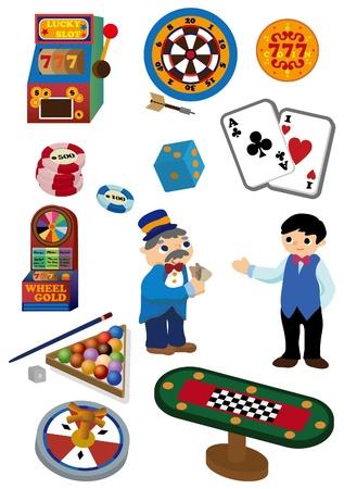 lucky man: cartoon Casino icon  Illustration