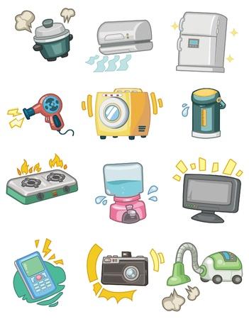 calentador: icono de dispositivo de dibujos animados