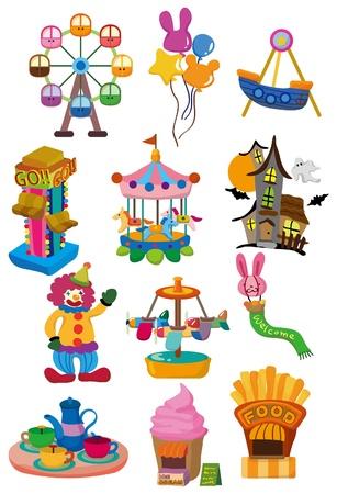 coaster: cartoon Playground icon  Illustration