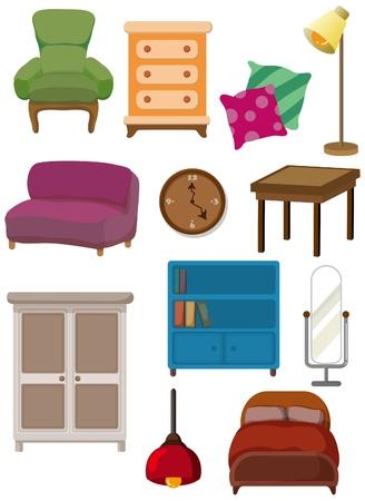 escabeau: Cartoon ic�ne de meubles  Illustration
