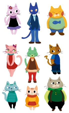 cartoon cat icon  Stock Vector - 8598831
