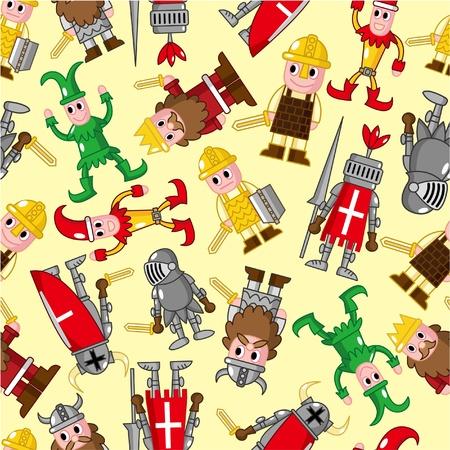 ruffian: seamless medieval people pattern