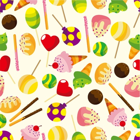 seamless candypattern  Vector