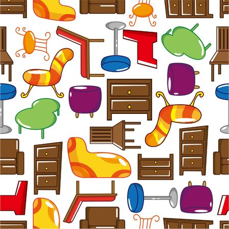 seamless Furniture pattern  Stock Vector - 8598832