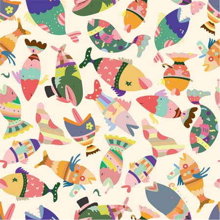 seamless fish pattern  Vector