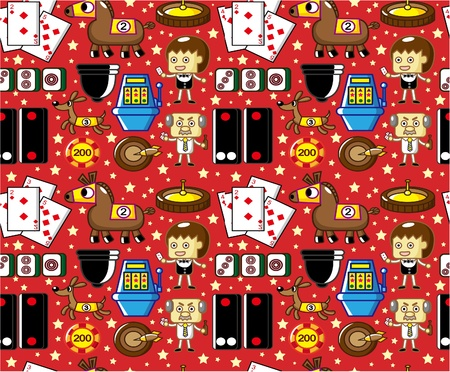 seamless casino pattern  Stock Vector - 8598877