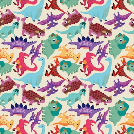 seamless dinosaur pattern  Vector