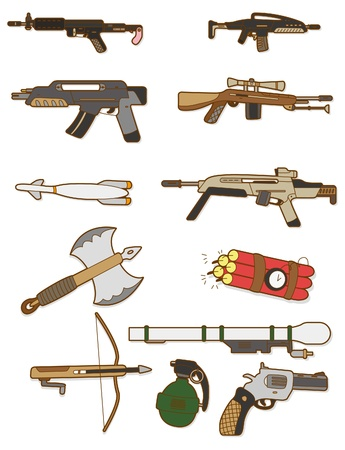 airsoft gun: cartoon weapon icon