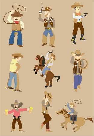 bucking horse: cartoon wild west cowboy icon
