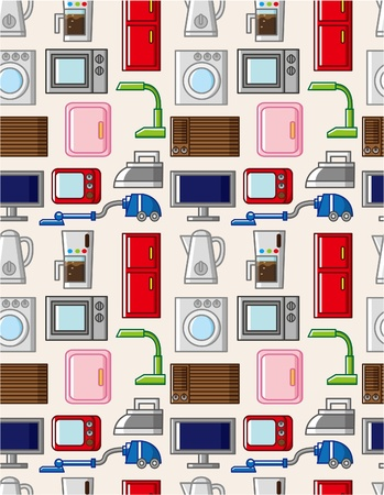 seamless home appliances pattern Stock Vector - 8601875