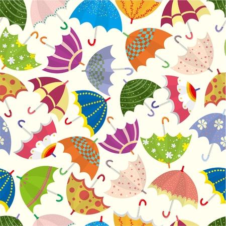 seamless umbrella pattern Stock Vector - 8601878