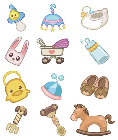 cartoon baby icon  Vector