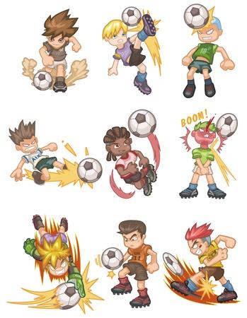 pelota caricatura: icono de fútbol de dibujos animados