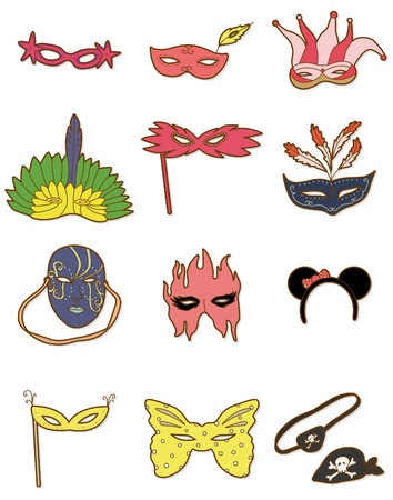 party mask: cartoon party mask icon