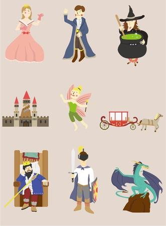 fairy cartoon: icono de historia de dibujos animados
