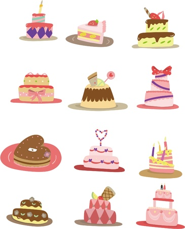 pink cake: cartoon cake icon