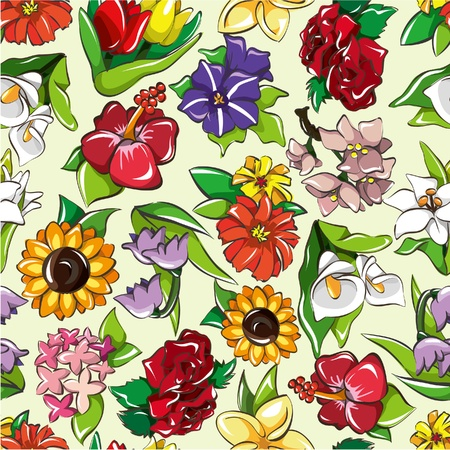 seamless flower pattern Stock Vector - 8613960