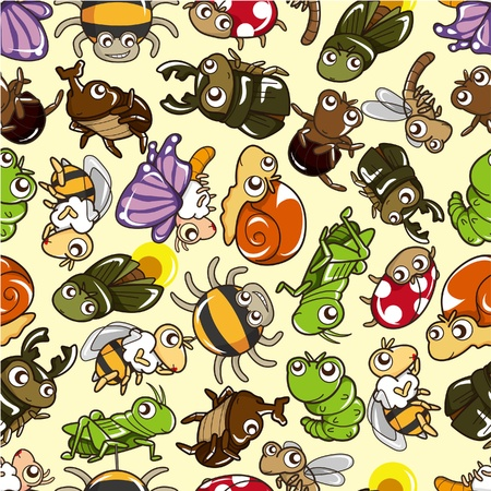 fireflies: seamless bug pattern