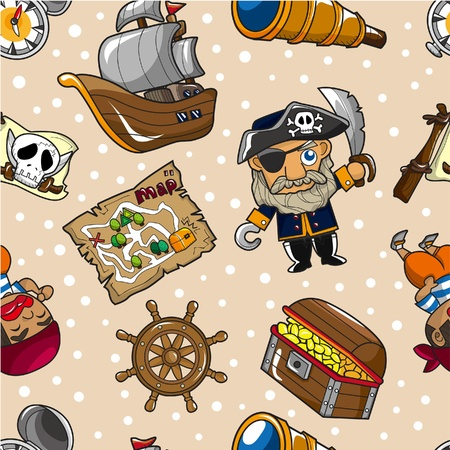 ruder: nahtlose Pirate Muster