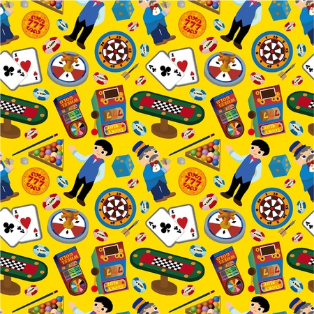seamless casino pattern Stock Vector - 8613962