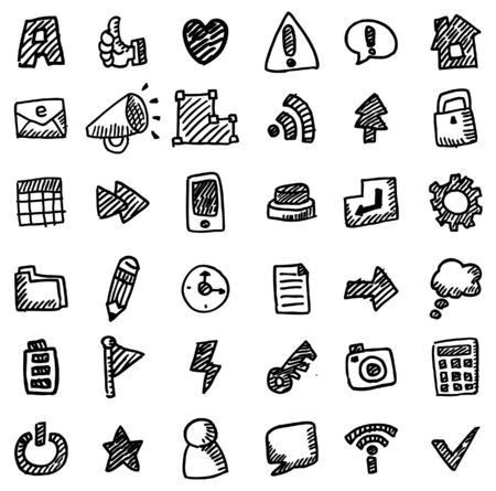 hand draw web icon Stock Vector - 8613940