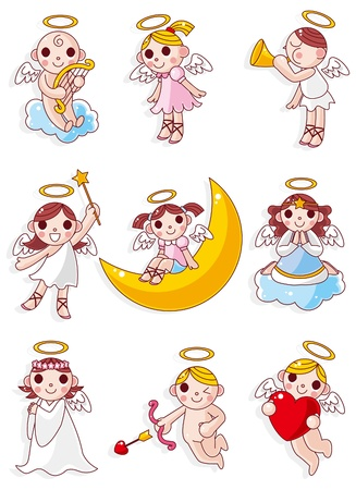cartoon angel icon  Vector