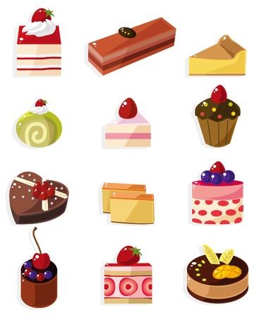 cartoon cake icon  Vector
