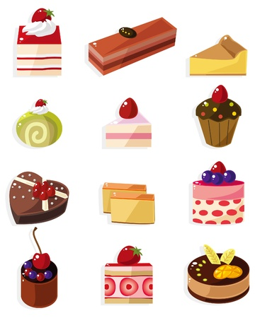 cartoon cake icon  Vector