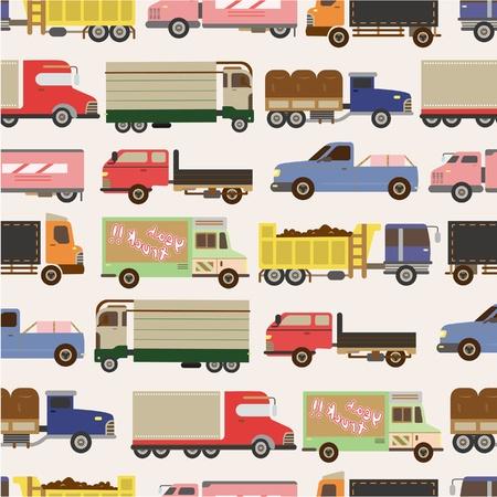 truck on highway: seamless truck pattern