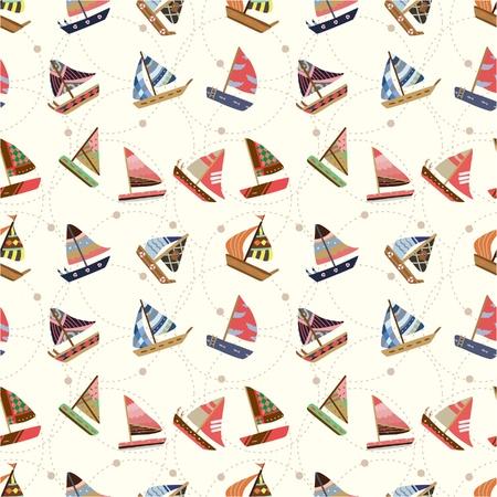 seamless sailboat pattern