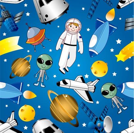 mars: deseń przestrzeni bez szwu  Ilustracja