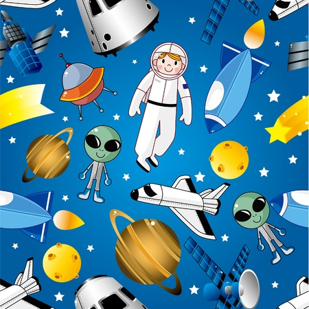 space station: seamless space pattern
