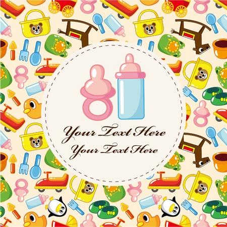 baby card Stock Vector - 8613959