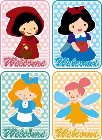 fairy princess: story people card  Illustration
