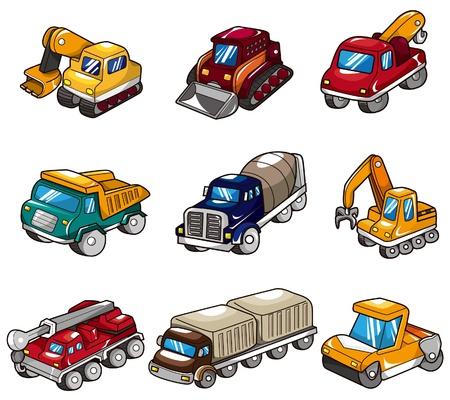 icono de camión de dibujos animados Ilustración de vector