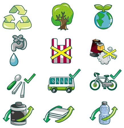 cartoon eco icon Stock Vector - 8613976