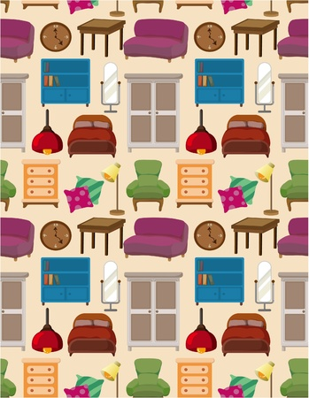 seamless furniture pattern Stock Vector - 8639220
