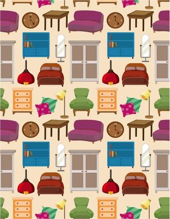 seamless furniture pattern Stock Vector - 8639220