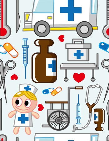 hospital cartoon: modello di ospedale senza saldatura Vettoriali