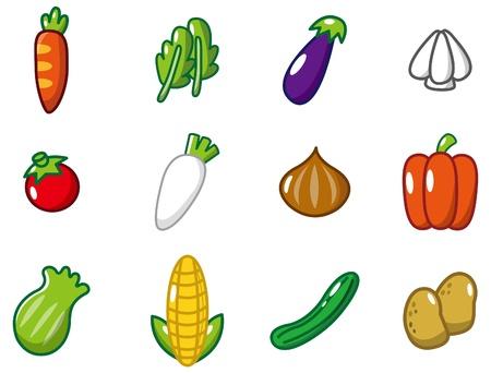 verduras de dibujos animados  Foto de archivo - 8639207