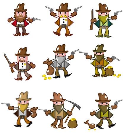 bucking horse: cartoon wild west cowboy icon