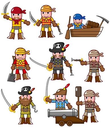 cartoon pirate icon Stock Vector - 8639214