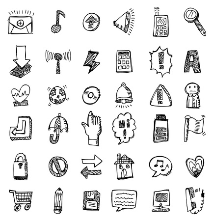 hand draw web icon  矢量图像