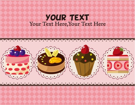 cake card Stock Vector - 8639209