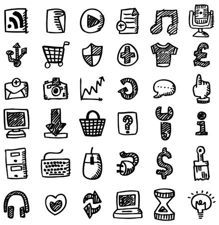 hand draw web icon Stock Vector - 8639206