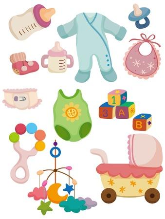 icono de cosas de bebé de dibujos animados Ilustración de vector