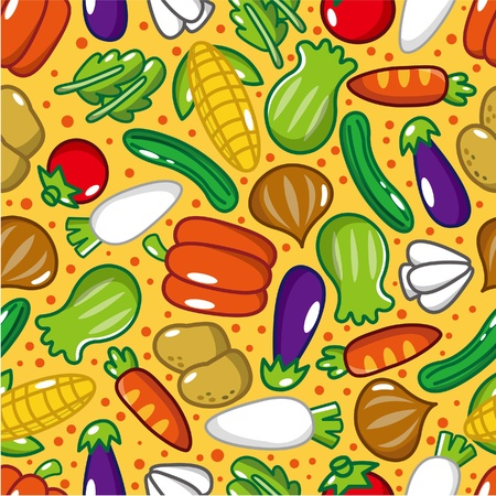 seamless vegetable pattern Stock Vector - 8639232