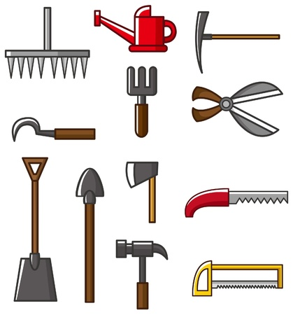 miter: Hand tool silhouette collection vectors  Illustration