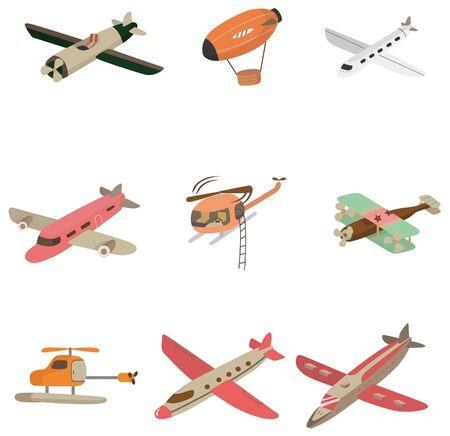 cartoon aircraft  icon Vector