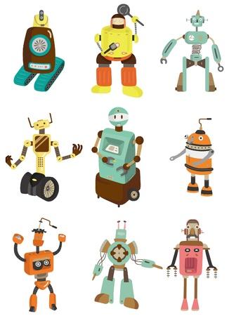 cartoon robot icon Vector